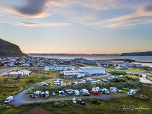 Bolungavík: Góð aðsókn að tjaldsvæðinu