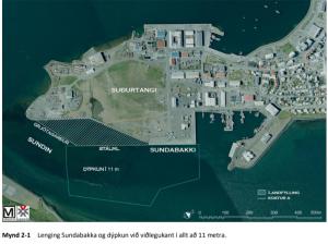 Ísafjörður: lenging Sundabakka -hönnun stálþils lokið